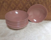 10 Mar-Crest Melmac Chocolate Brown Vintage Dessert Bowls