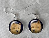 Norwich Terrier Drop Earrings ~ Dog Earrings ~ Girlfriend Gift ~ Dog Earrings ~ Gifts for Her ~ Norwich Owner