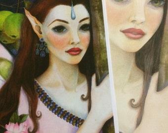 The Apple Blossom Faerie, Original Art Print, Kim Turner Art, Australian Artist, Art Print, Fairy Print, Faerie Prinr