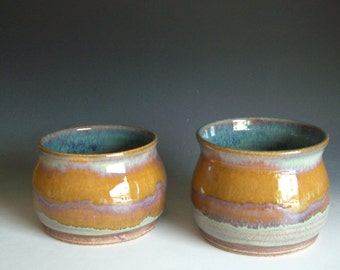 Hand thrown stoneware pottery bowls