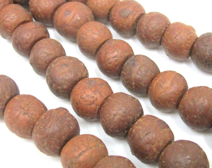 10 Beads - Tibetan Bodhi beads from Nepal - 12mm to 14 mm - NB138