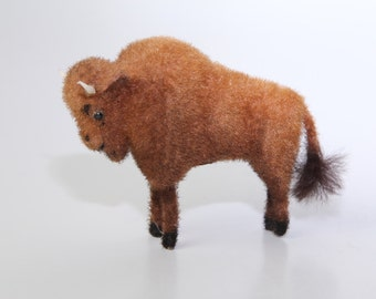 Vintage Bison Toy by Wagner Handwork - Kunstlerschutz - West Germany