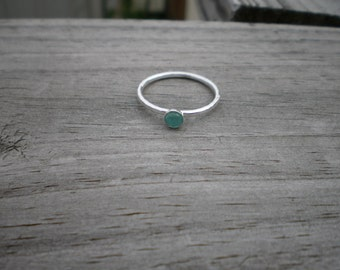 Apatite Stacking Ring, Sterling Silver, Size 9