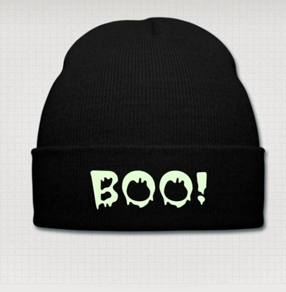 Halloween Boo! glow in the dark cap