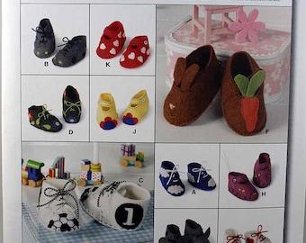 Burda 7614,  Baby Booties Pattern, Sewing Pattern, New, Uncut