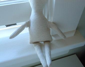1 Muslin Cloth Doll Body-form-crafting-blank-9 inch