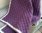 Purple Baby Blanket Afghan Ready to Ship