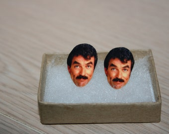 Tom Selleck Post Stud Earrings Celebrity Jewelry