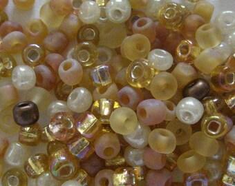Butternut 6/0 Seed Bead Mix 15 grams
