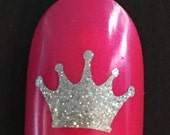 Princess Crown toe nail / finger nail decals / stickers / art pedicure Tattoo