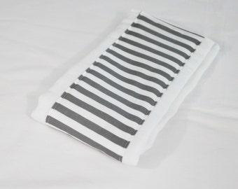 Grey Stripe Baby Burp Cloth