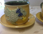 Drinking Dragon Cup and Saucer