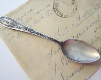 vintage sterling souvenir spoon - TIJUANA dog race track - Charles M. Robbins mark