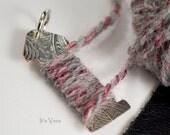 Yarn gauge, silver yarn gauge, wool measuring, knitters pendant, knitting yarn gauge, crochet yarn gauge, measure stitches, knitters gifts