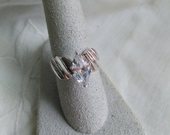 DQ CZ 925 Sterling Silver Cubic Zirconia ring size 7