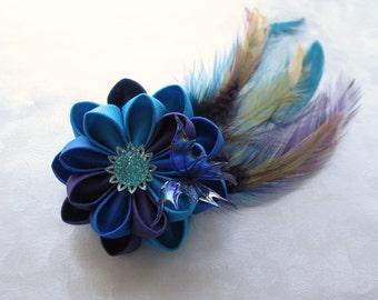 Neon Dream Kanzashi Hair Flower Fasicinator