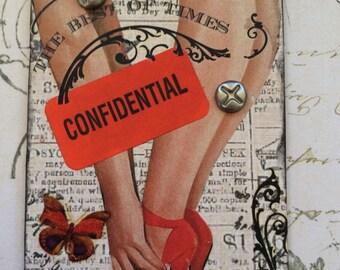 Confidential Mature  Conceptual  Artist Tading Card