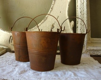 Rustic metal buckets wedding rustic table decorations wedding party gift baskets crafts supplies