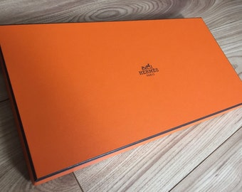 Authentic Hermes orange box for Hermes shawl