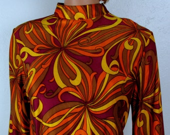 Vintage 1960s Psychedelic Lounge Wear