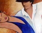 Tango Azul giclee