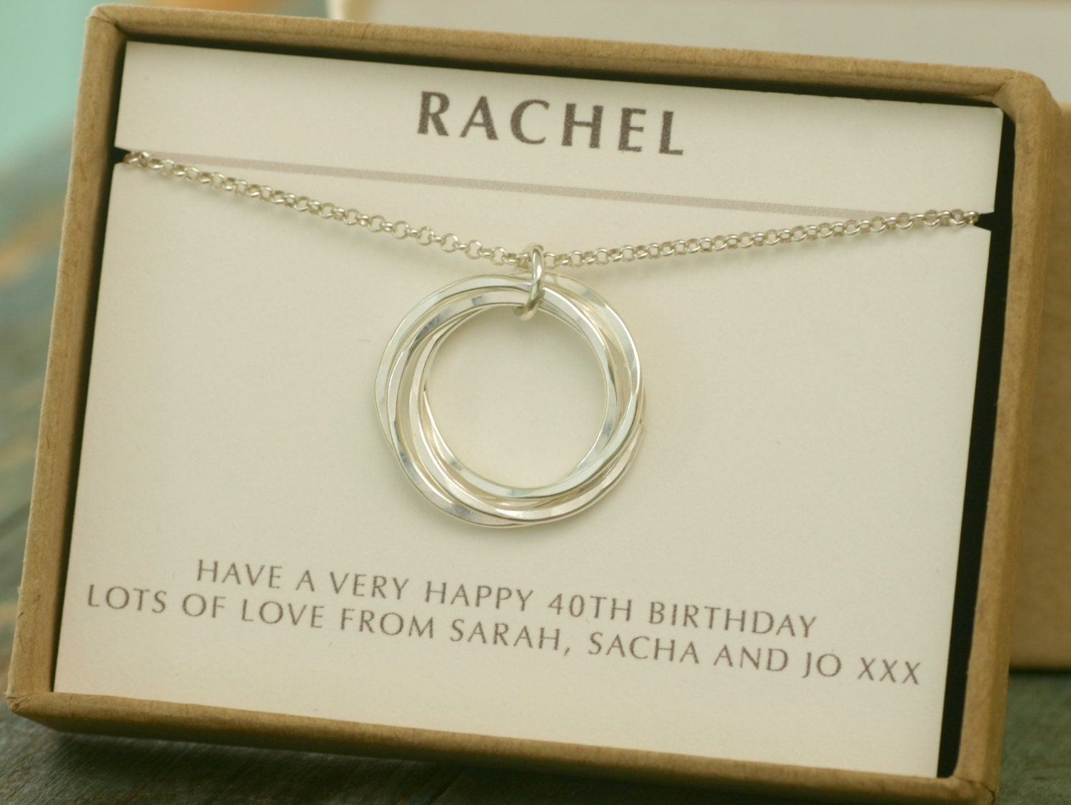 40th Birthday Gift 4 Best Friend Necklace 4 Sister Jewelry