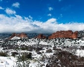 Snow Covered Garden of the Gods (photograph, various sizes)