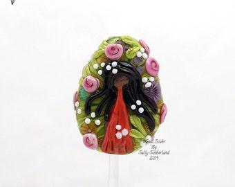 Flower Girl Focal Bead
