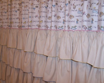 Nursery Rhyme Shower Curtain for Your Precious Little One - with Three Fabulous Ruffles!