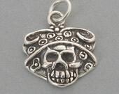 CALAVERA CATRINA Sugar Skull Sterling 925 Charm Day of the Dead Halloween 4482