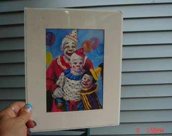Colorful Clowns Trio by Cathy Ann ates - 1985 - Lovely