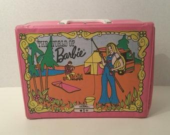 WORLD of BARBIE LUNCHBOX, Vinyl, Mattel, 1972, Vintage Collectible