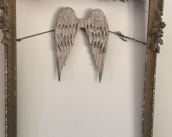 Angel wings,metal angel wings,vintage distressed patinas,feathered wings,wings-metal wings,angel wings,wall decor-baby decor-