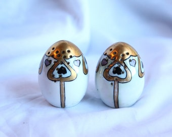 Art Nouveau Gold Painted Salt and Pepper shakers Bavaria