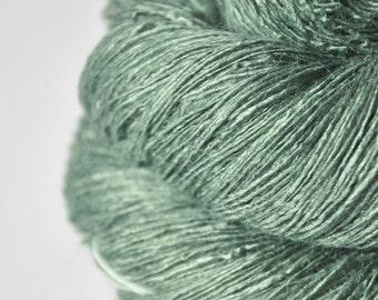 Glass frog - Tussah Silk Lace Yarn