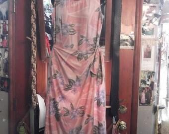 Hawaiian cotton Wrap Dress, sz M