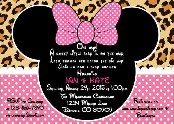 Printable pdf minnie mouse leopard baby shower invitation by a sweet il570xn filmwisefo