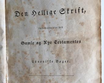 1858 Danish Bible - American Bible Society Calfskin Cover