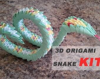 3d origami snake KIT