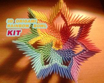 3D origami Spiral Bowl KIT