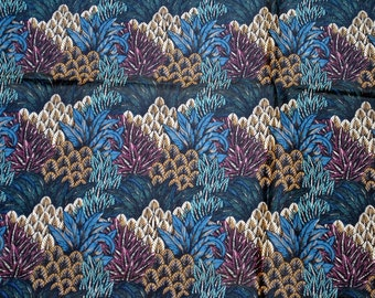 Vintage fabric yardage Festive Feather by Seabrook floral art