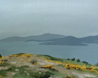 Art Landscape Painting Scotland Landscape Scottish Art Original acrylic original landscape painting of Scotland Original Art