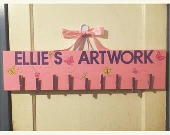 Kids Art Display Hanger - Personalized Artwork Holder - Artwork Display