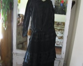 Antique Black Silk Mourning Skirt and Top set
