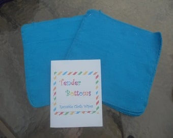 "30 Ct 1 Ply Tender Bottoms Baby Wipes 8"" Squares"