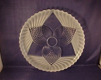 Round Glass Serving Plate Platter