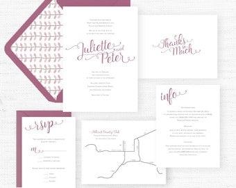 The Juliette Collection | Sample Wedding Invitation