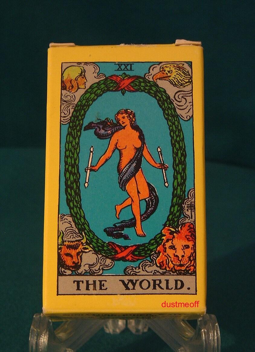 Vintage MINIATURE RIDER WAITE Tarot Card Deck First By