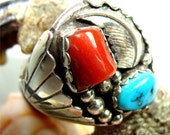 Sz 13 1/2 Big Man RING Handmade by NAVAJO Indians with STERLING Silver
