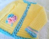 Crochet Springtime Floral Toddler Sweater